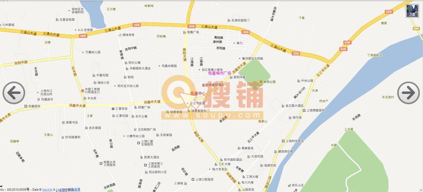 上饶市横峰县地图